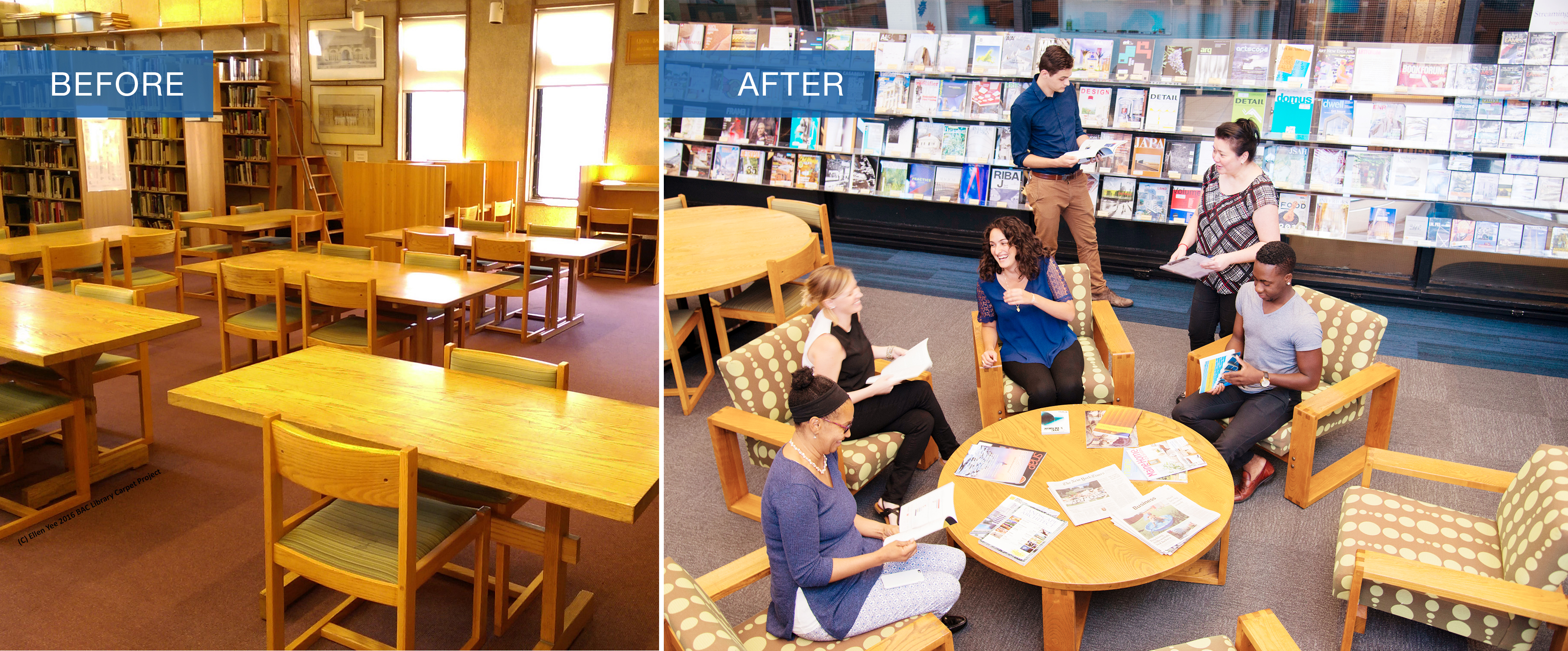 Boston Architectural College BAC Library Before After